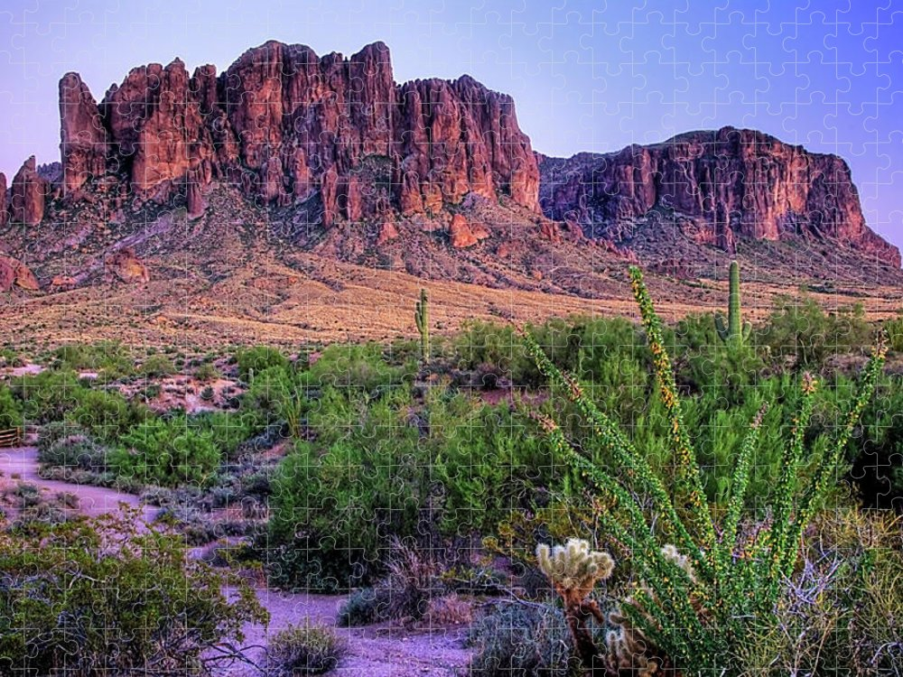 Tranquility Puzzle featuring the photograph Desert Trail by Patti Sullivan Schmidt