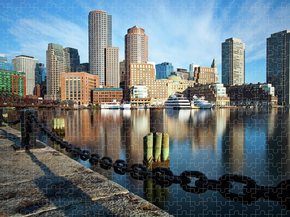 Tranquility Puzzle featuring the photograph Downtown Boston by Richard Williams Photography