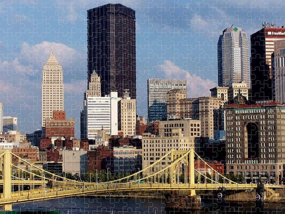 Downtown District Puzzle featuring the photograph Downtown Pittsburgh Panorama From Pnc by Photo By Paul D. Toth