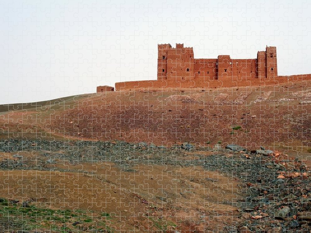 Ksar Puzzle featuring the photograph Draa Valley Casbah by Robertogennaro