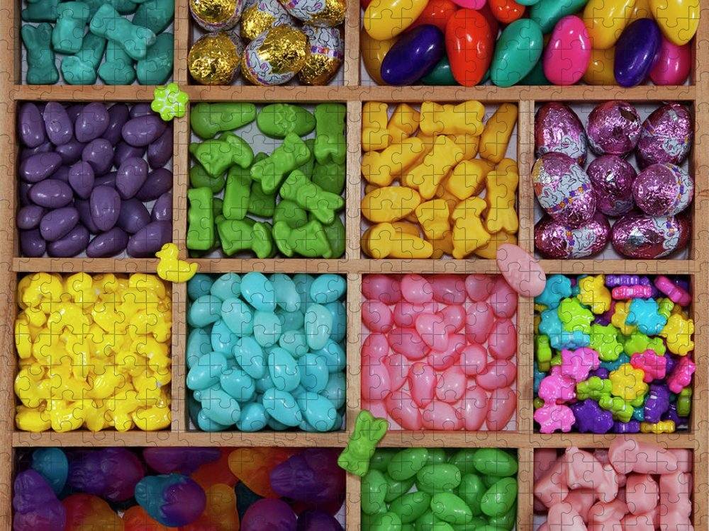 Unhealthy Eating Puzzle featuring the photograph Easter Candies by Lisa Stokes
