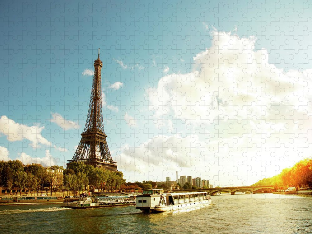 Arch Puzzle featuring the photograph Eiffel Tower And The River Seine by Vintagerobot