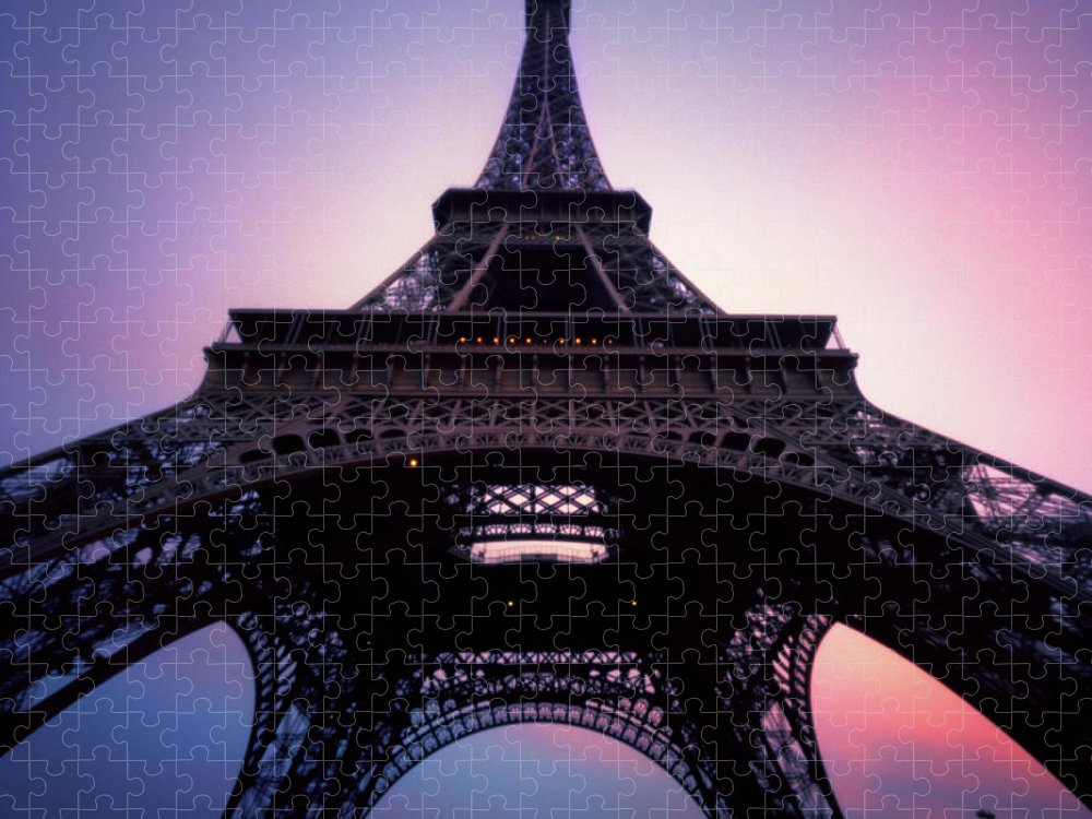 Arch Puzzle featuring the photograph Eiffel Tower At Sunset by Zeb Andrews