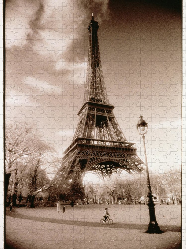 Eiffel Tower Puzzle featuring the photograph Eiffel Tower In Paris, France by Gk Hart/vikki Hart