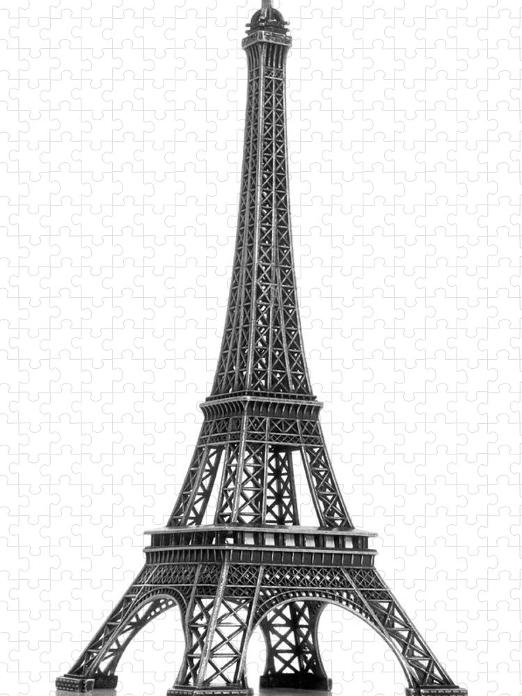 Architectural Model Puzzle featuring the photograph Eiffel Tower by Jamesmcq24