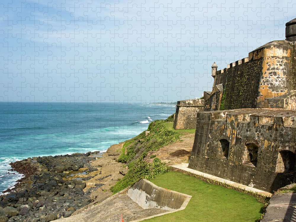 Grass Puzzle featuring the photograph El Morro On The Coast by Thundor