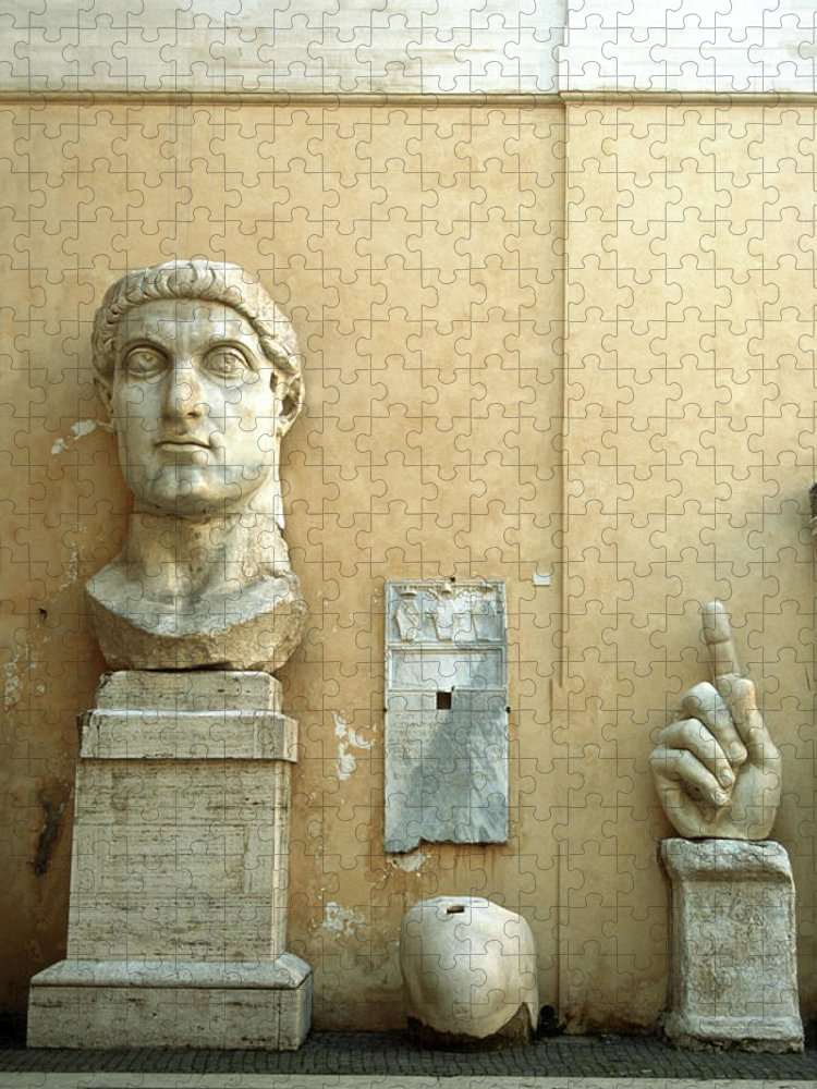 Statue Puzzle featuring the photograph Emperor Constantine by Manuelvelasco