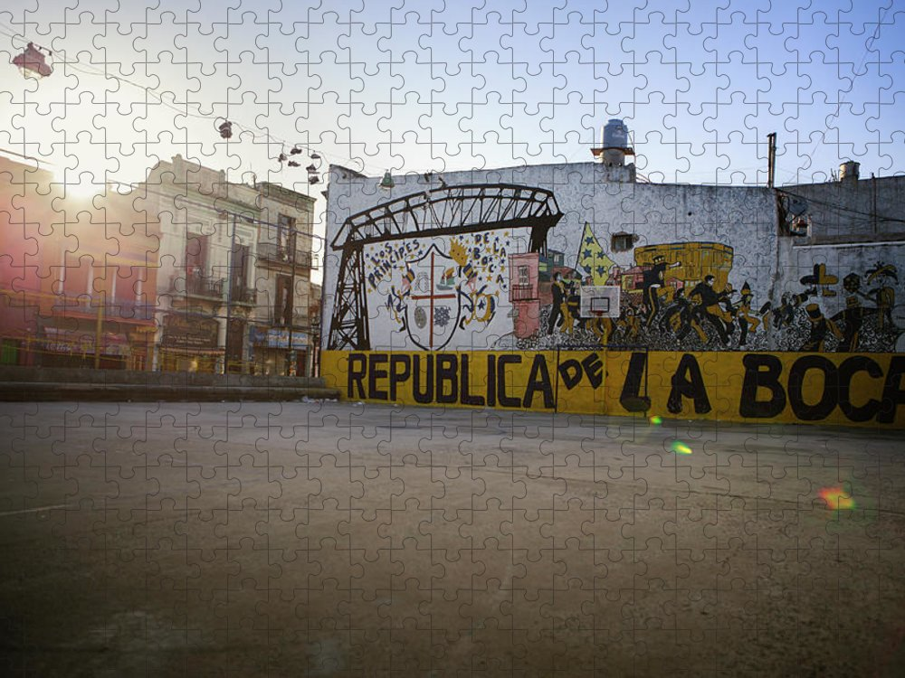 Empty Puzzle featuring the photograph Empty Soccer Field In La Boca by Just One Film