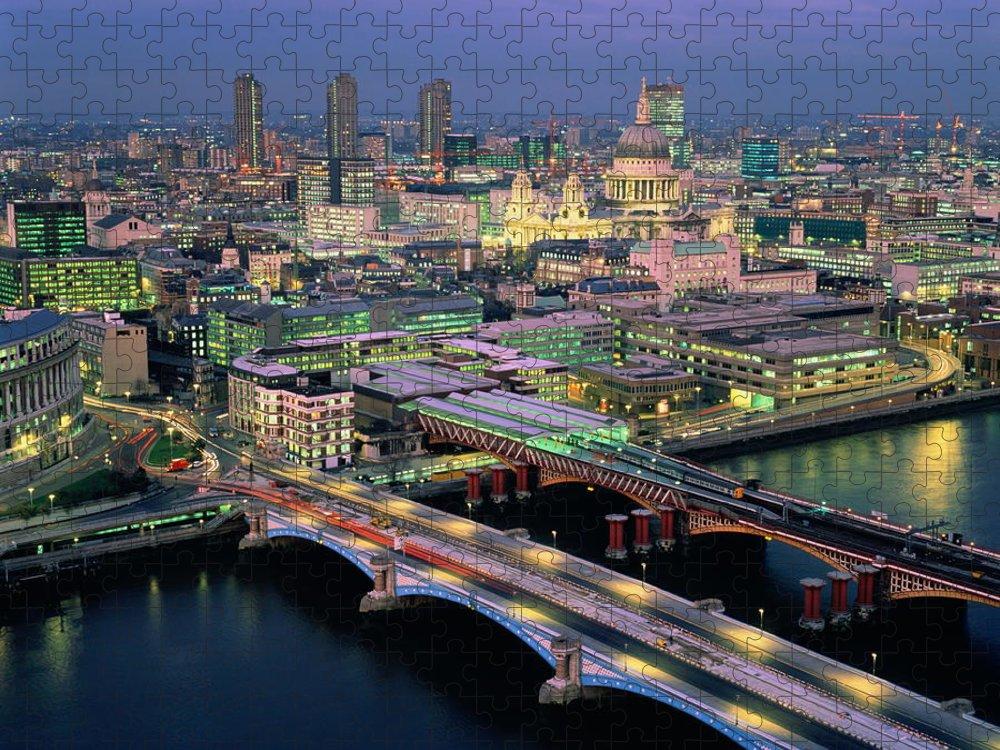 Blackfriars Bridge Puzzle featuring the photograph England,london,blackfriars Bridge by Ary Diesendruck