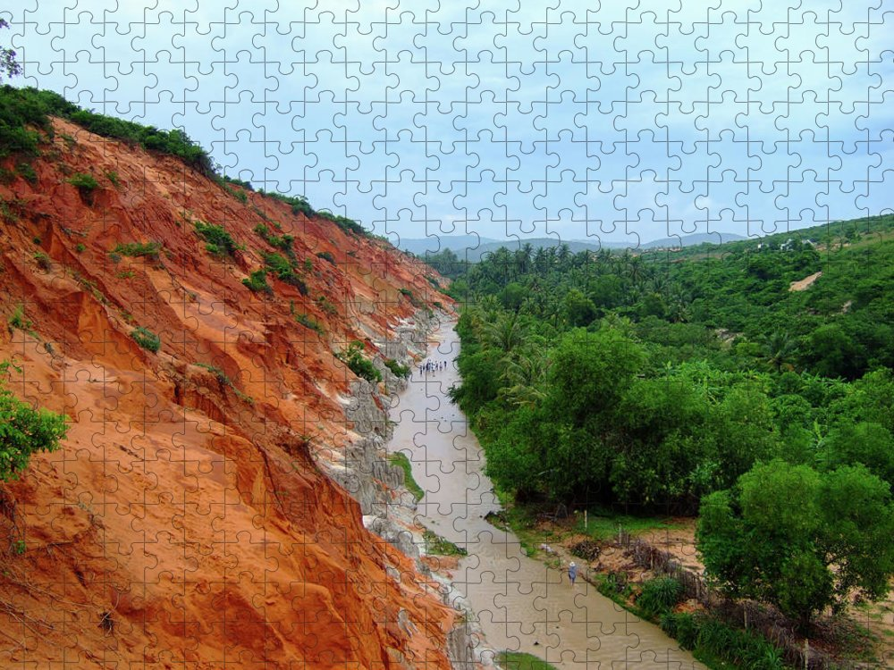 Tranquility Puzzle featuring the photograph Fairy Springs In Mui Ne by Thomas Davis