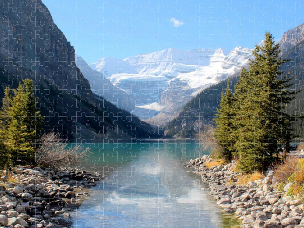 Tranquility Puzzle featuring the photograph Fall At Lake Louise , Alberta, Canada by Cynthia Russell Photography