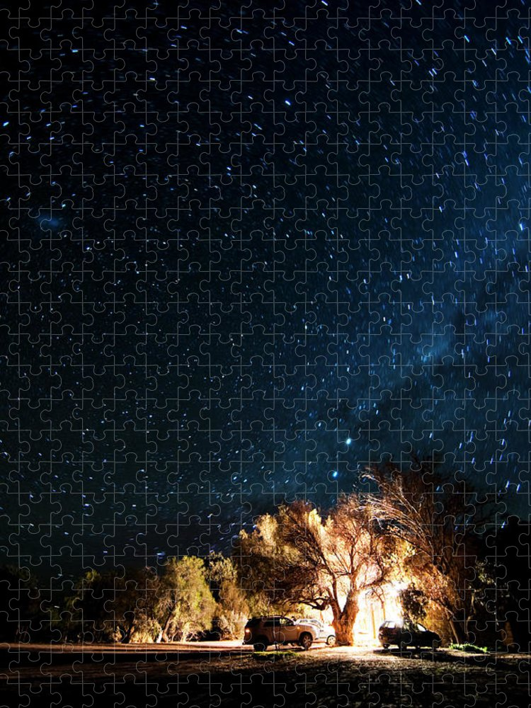Northern Cape Province Puzzle featuring the photograph Farm House And Milky Way by Subman