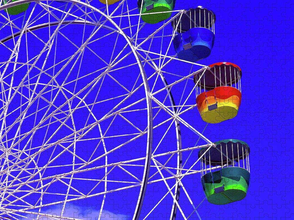 Outdoors Puzzle featuring the photograph Ferris Wheel, Sydney, Australia by Hans-peter Merten