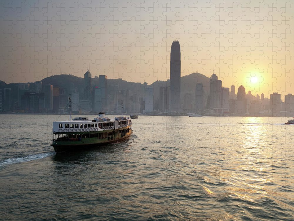 Chinese Culture Puzzle featuring the photograph Ferry Boat To Hong Kong by Simonbradfield