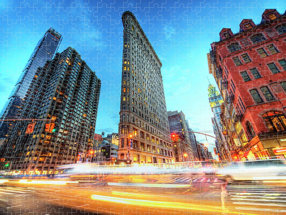 Outdoors Puzzle featuring the photograph Flatiron by Tony Shi Photography
