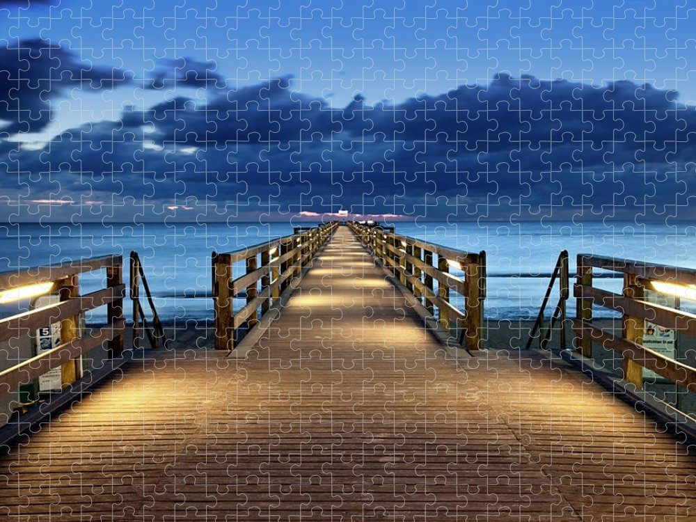 Water's Edge Puzzle featuring the photograph Footbridge by Bertlmann
