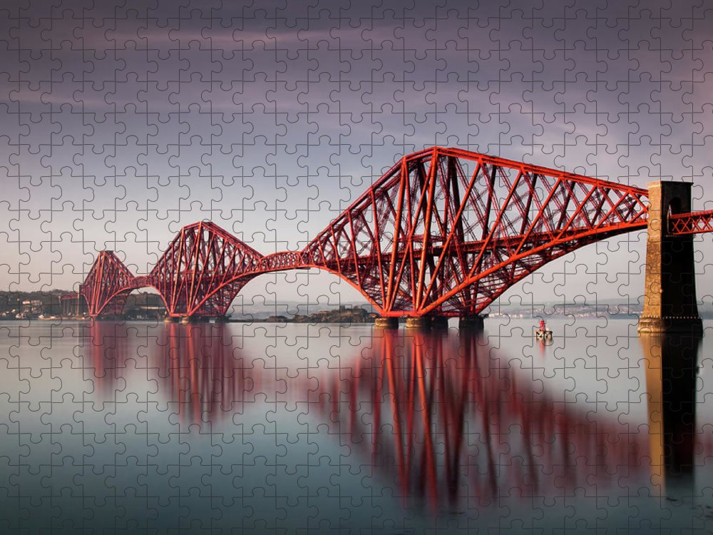 Built Structure Puzzle featuring the photograph Forth Rail Bridge by Jon Wild