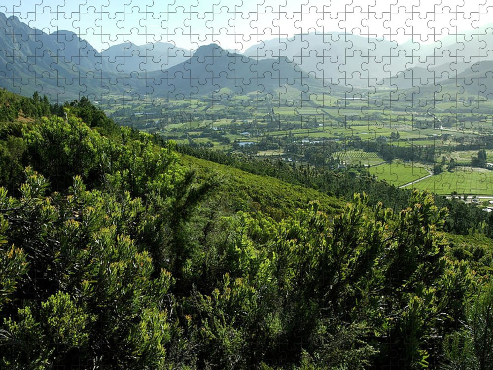 South Africa Puzzle featuring the photograph Franschhoek Valley by Ruvanboshoff