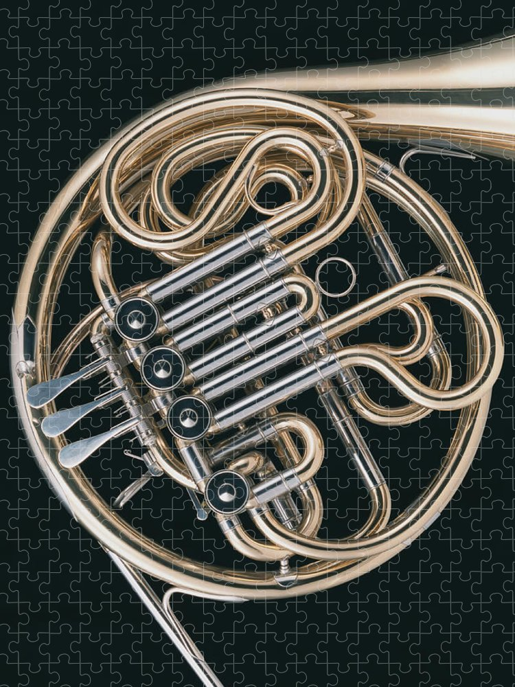 Music Puzzle featuring the photograph French Horn by Imagenavi