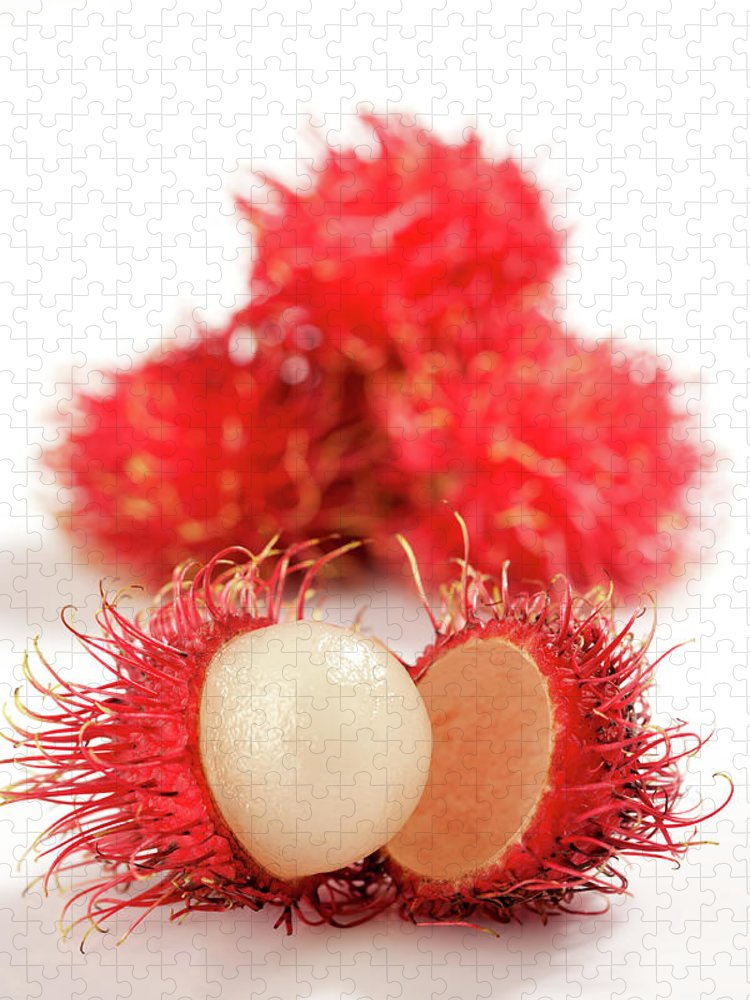 Raw Food Diet Puzzle featuring the photograph Fresh Thai Rambutans by Enviromantic