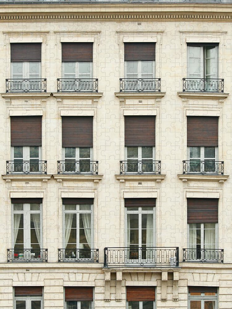 Apartment Puzzle featuring the photograph Front View Of Paris Architecture by S. Greg Panosian