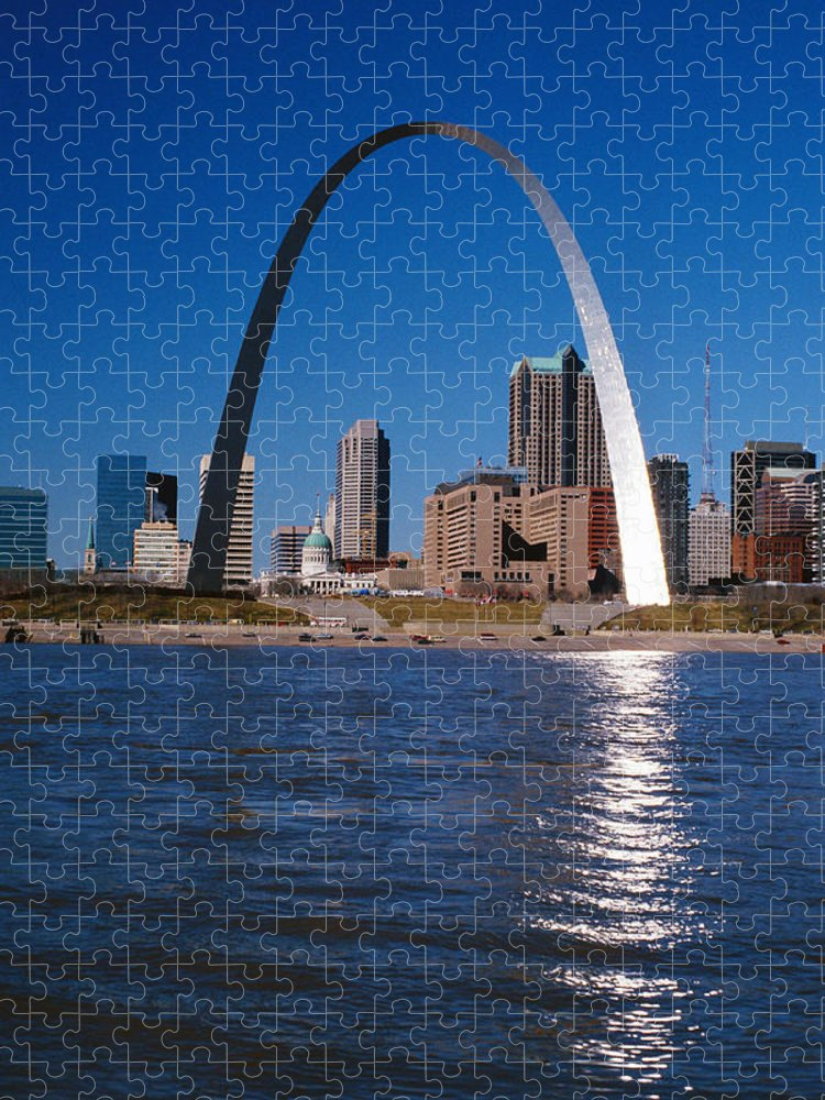 Arch Puzzle featuring the photograph Gateway Arch In St Louis, Missouri by Stockbyte