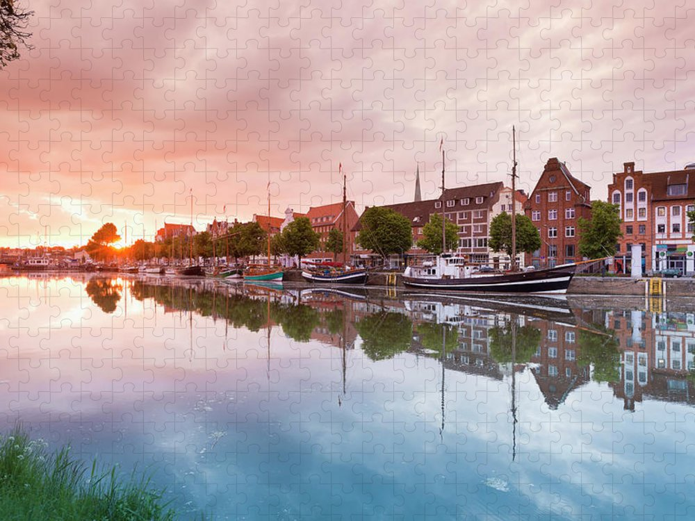 Old Town Puzzle featuring the photograph Germany, Schleswig Holstein, Luebeck by Westend61
