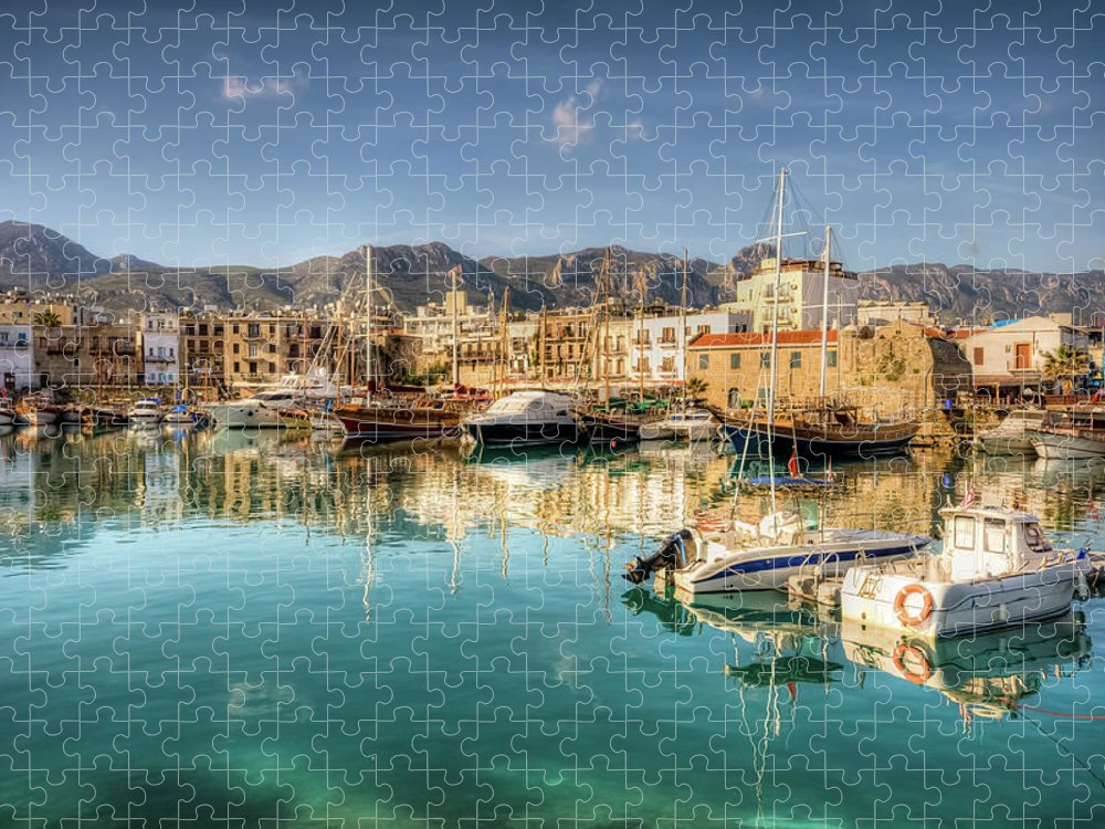 Tranquility Puzzle featuring the photograph Girne Kyrenia , North Cyprus by Nejdetduzen