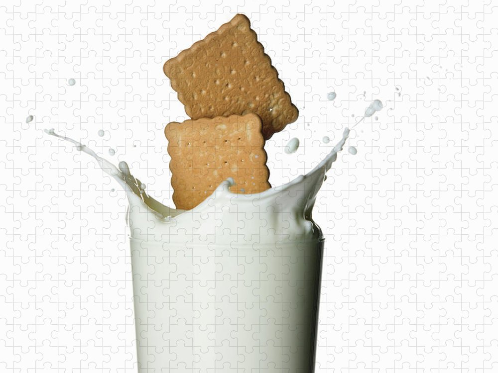 Milk Puzzle featuring the photograph Glass Of Milk by Buena Vista Images