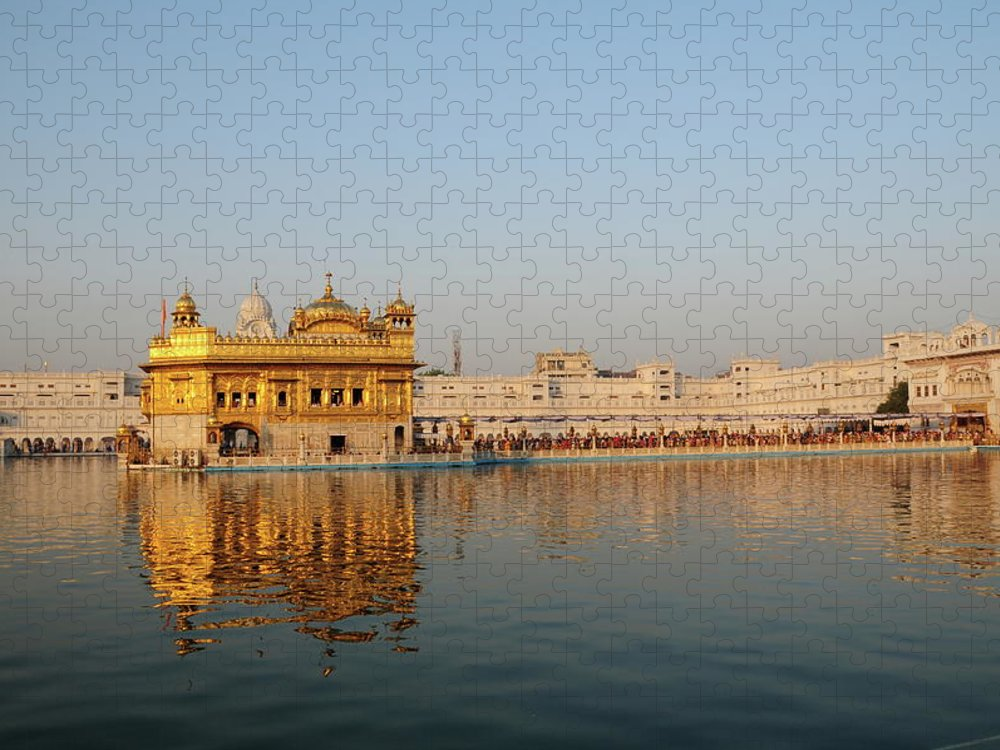 Golden Temple Puzzle featuring the photograph Golden Temple,amritsar,punjab,india by Alan lagadu