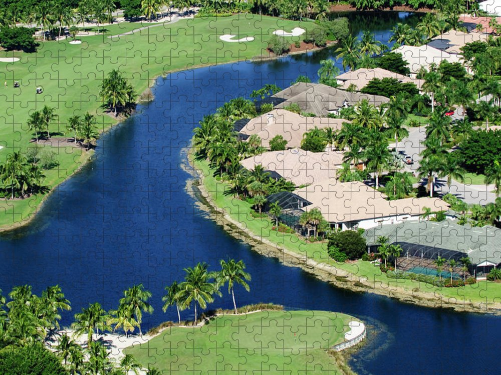 Recreational Pursuit Puzzle featuring the photograph Golf Course Community by Negaprion