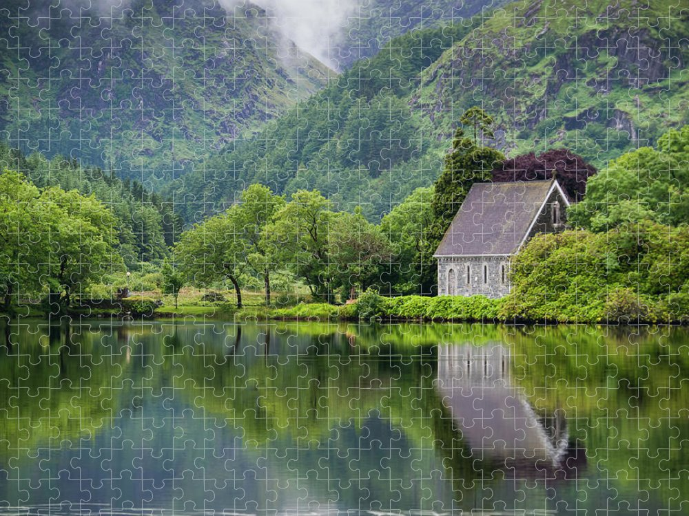 Tranquility Puzzle featuring the photograph Gougane Barra Forest Park And Lake by Bradley L. Cox