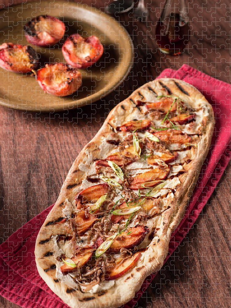 Cheese Puzzle featuring the photograph Gourmet Pizza by Rudisill