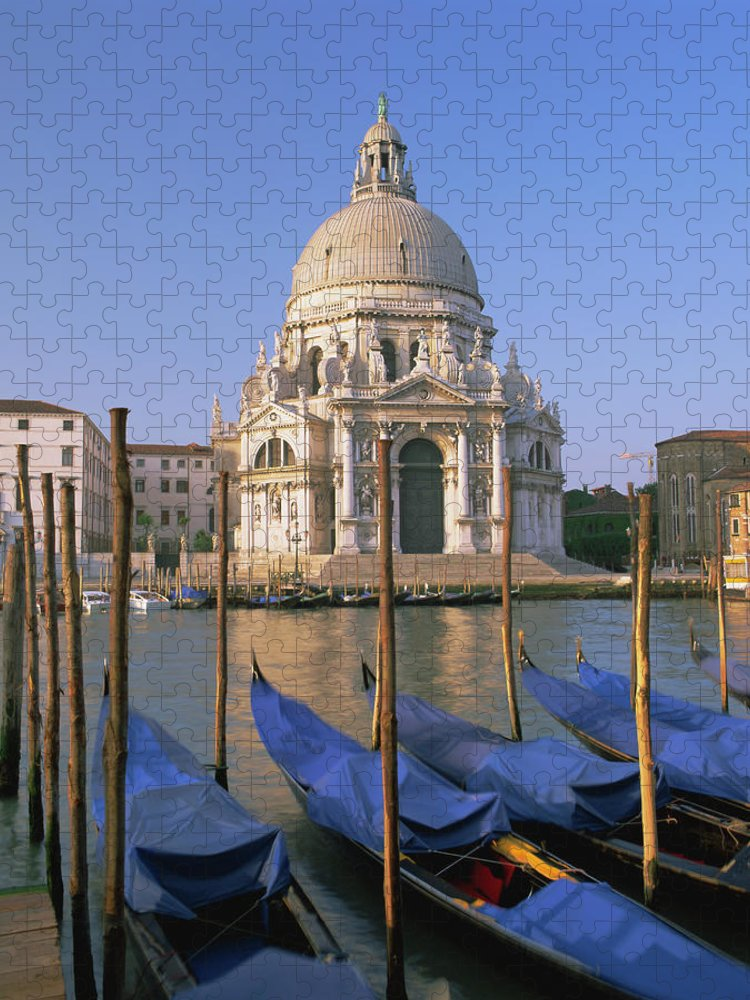 Unesco Puzzle featuring the photograph Grand Canal And Gondolas, Venice by Gavin Hellier / Robertharding