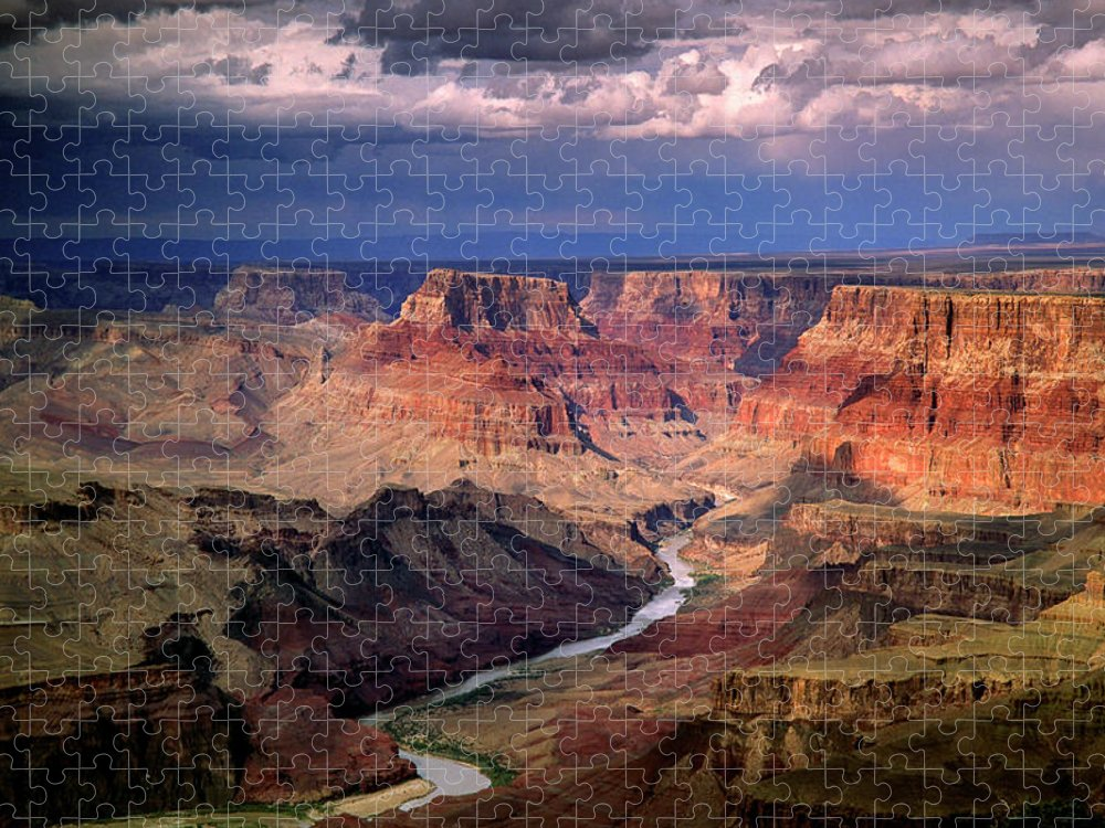 Scenics Puzzle featuring the photograph Grand Canyon, Arizon, Usa by Michael Busselle