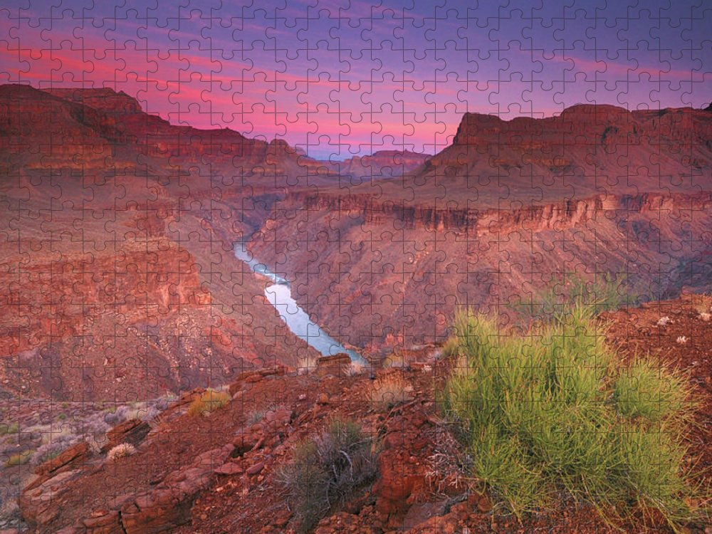 Scenics Puzzle featuring the photograph Grand Canyon Sunrise by David Kiene