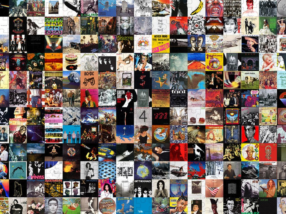 Album Covers Puzzle featuring the digital art Greatest Album Covers of All Time by Zapista OU
