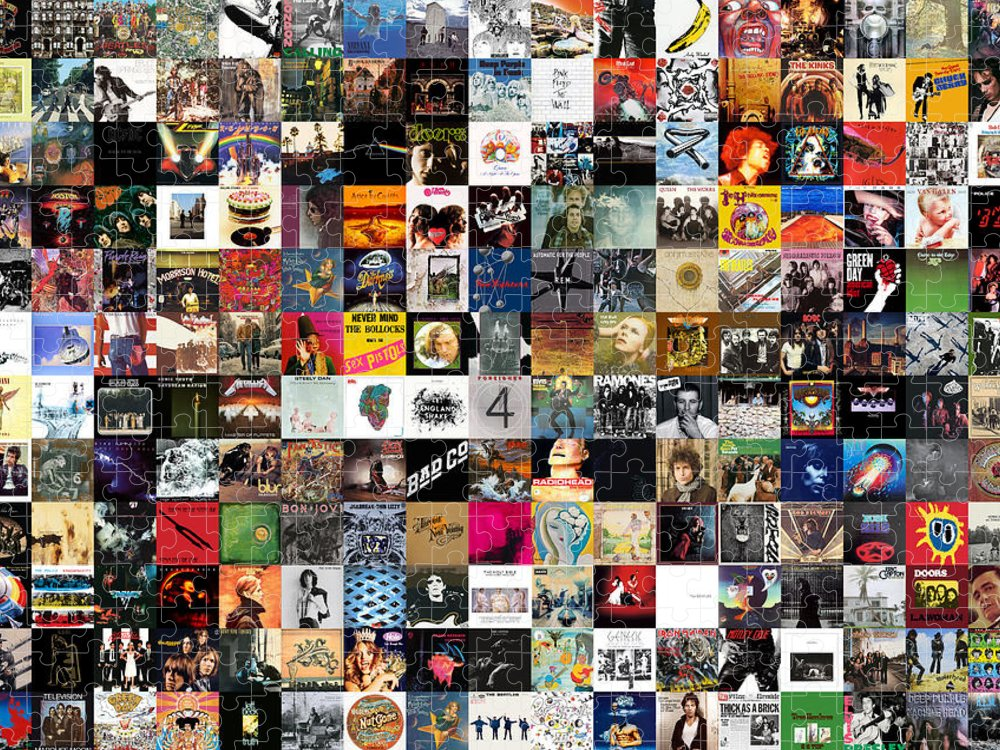 Album Covers Puzzle featuring the digital art Greatest Rock Albums of All Time by Zapista OU