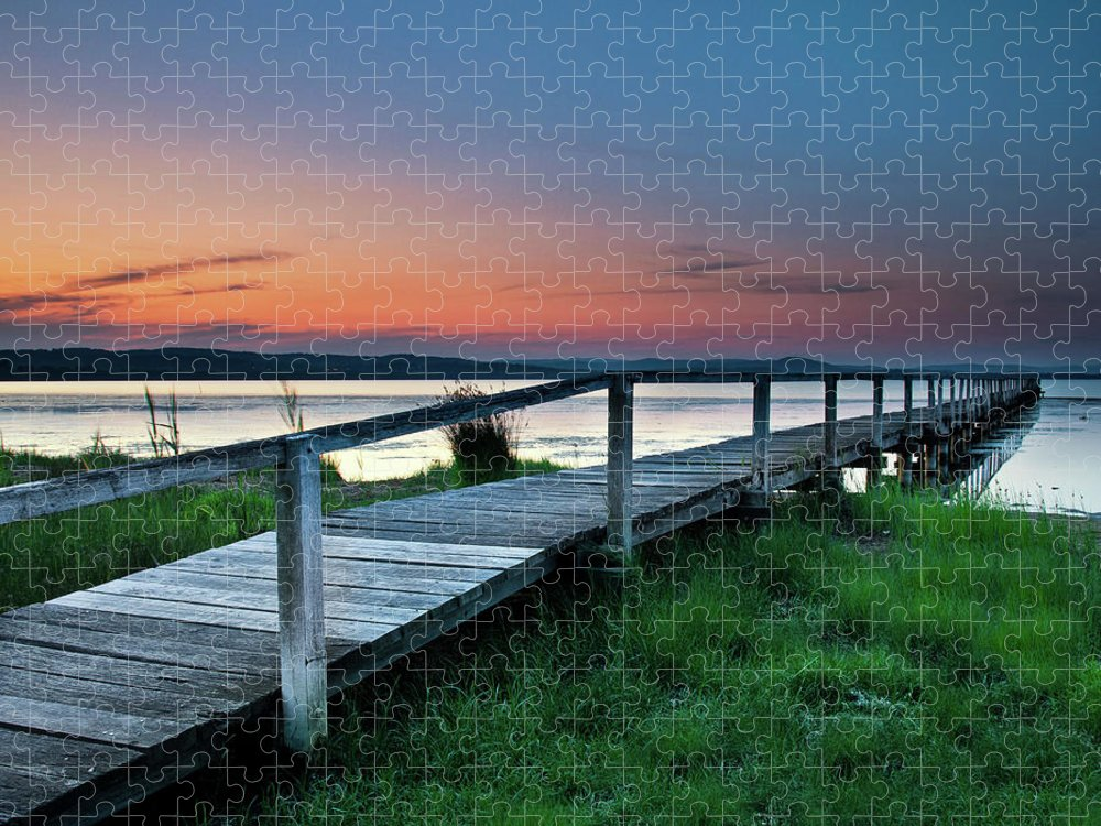 Tranquility Puzzle featuring the photograph Greener On The Other Side by Photography By Carlo Olegario
