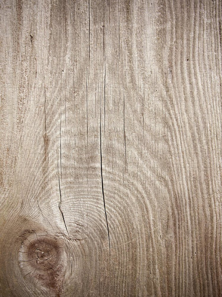 Material Puzzle featuring the photograph Grunge Wood Textured Background With by Hudiemm