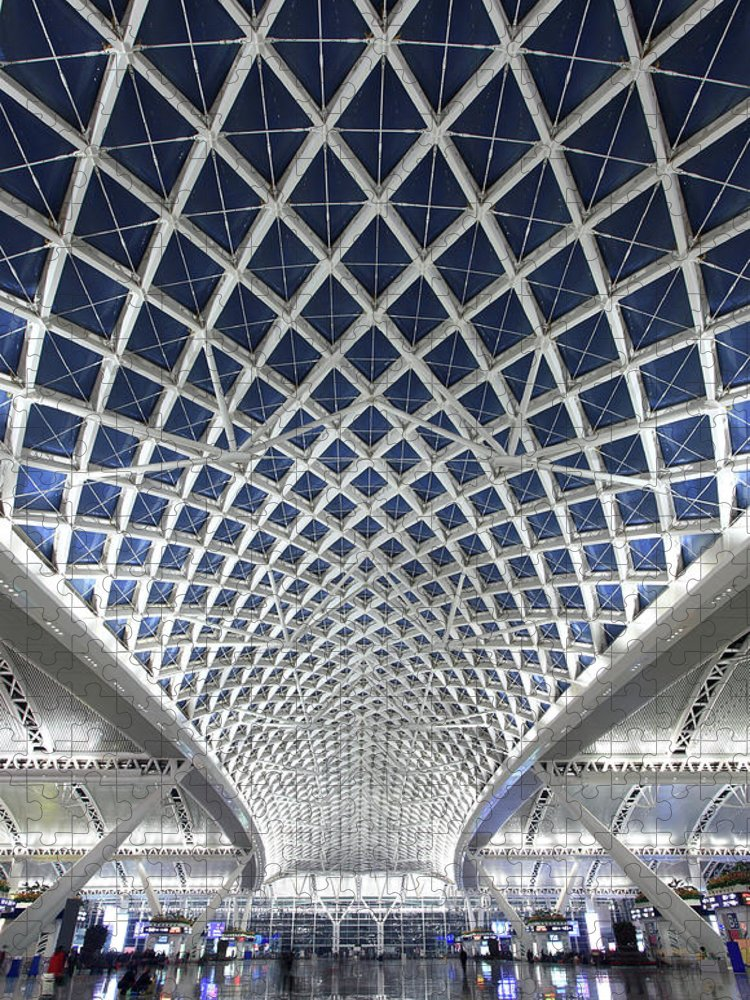 Chinese Culture Puzzle featuring the photograph Guangzhou Railway Station by Real444