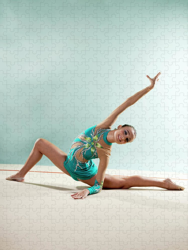 Human Arm Puzzle featuring the photograph Gymnast, Smiling, Bending Backwards by Emma Innocenti