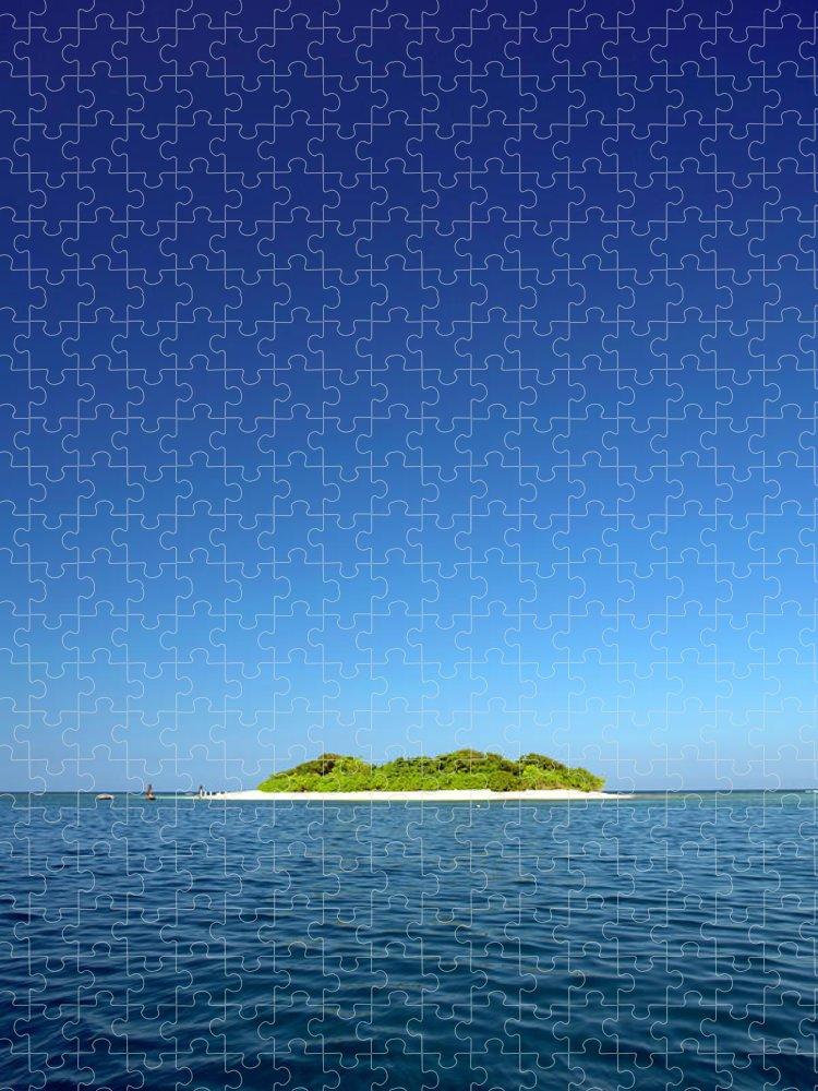 Tranquility Puzzle featuring the photograph Haiti, Nord, Isla Amiga by John Seaton Callahan