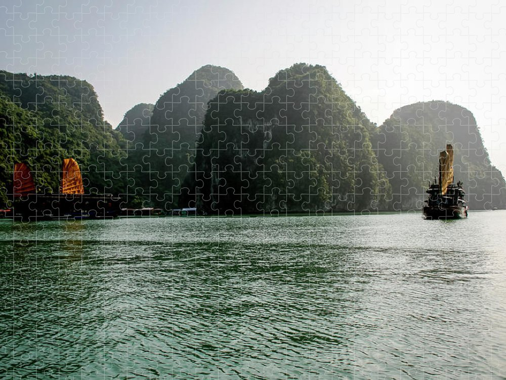 Scenics Puzzle featuring the photograph Halong Bay by Rafax
