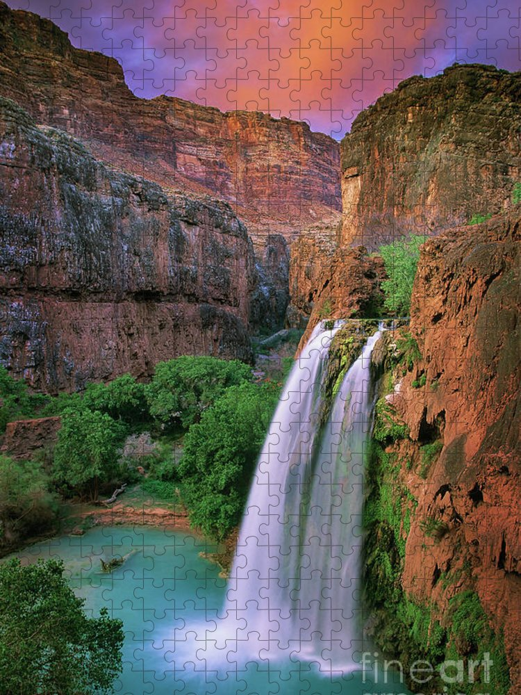 America Puzzle featuring the photograph Havasu Falls by Inge Johnsson