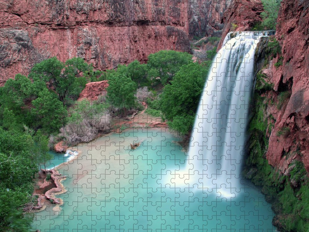 Geology Puzzle featuring the photograph Havasu Falls Landscape by Jpschrage