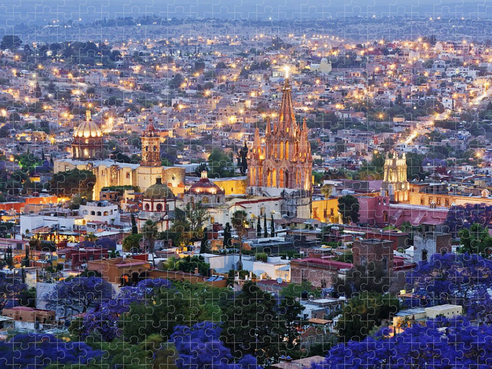 Latin America Puzzle featuring the photograph Historical Centre Of San Miguel De by Jeremy Woodhouse