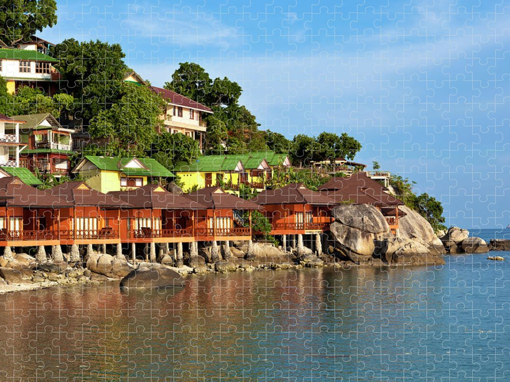 Vacations Puzzle featuring the photograph Holiday Villas by 35007