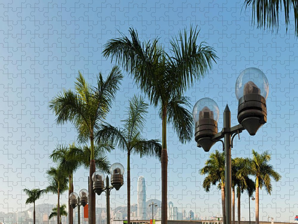 Chinese Culture Puzzle featuring the photograph Hong Kong Clock Tower Ferry Terminal by Fotovoyager