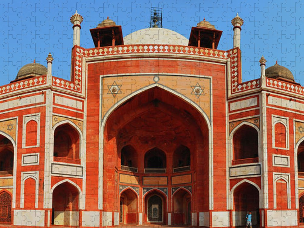 Arch Puzzle featuring the photograph Humayuns Tomb, New Delhi by Mukul Banerjee Photography